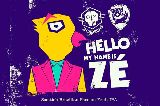 Cerveja colaborativa da cervejaria Brewdog com a brasileira 2Cabeça.